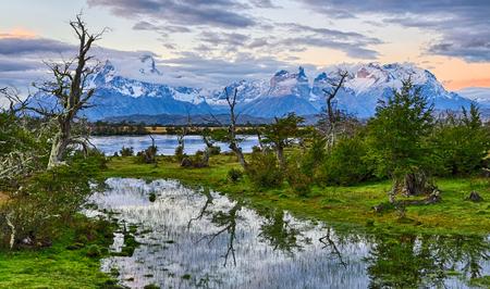 パタゴニア チリ リオ セラーノ - トレス ・ デル ・ パイネ NP - 夜