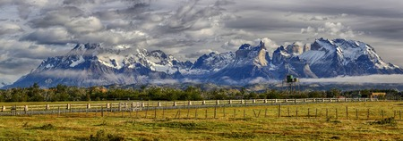 Cordillera del Paine in morning light - Torres del Paine NP - Patagonia, Chile