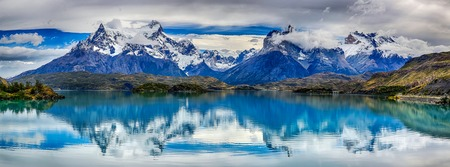 Reflection of Cuernos del Paine at Lake Pehoe - Torres del Paine NP - Patagonia, Chile