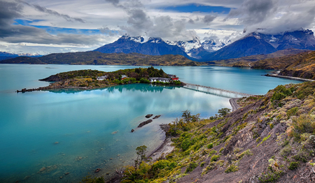 Cuernos del Paine at Lake Pehoe - Torres del Paine NP - Patagonia, Chile