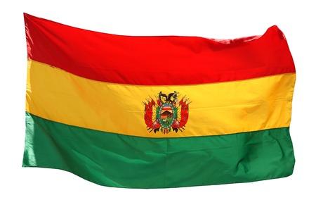 Flag of Bolivia - isolated on white background Stock Photo