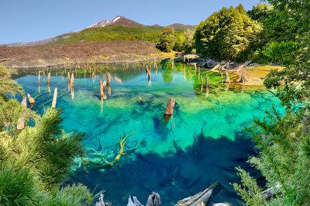 Lago Arcoiris at Conguillio NP, Chile - HDR panorama Stok Fotoğraf
