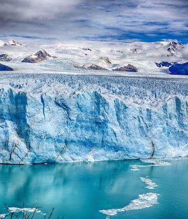 Front of Perito Moreno Glacier at Los Glaciares National Park NP, Argentina - HDR panorama Фото со стока