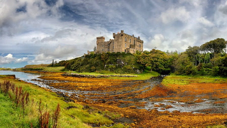 Medieval fortress Dunvegan Castle - Isle of Skye, Scotland