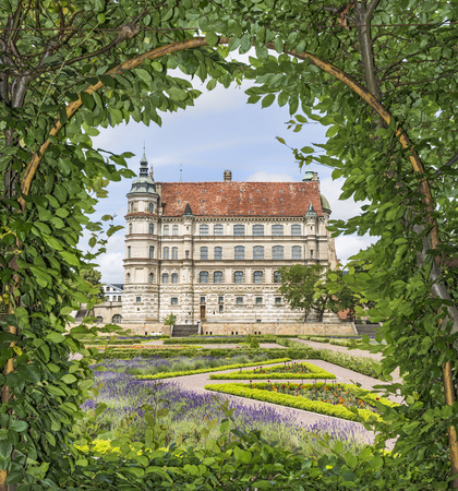 View of the Palace of Güstrow - Germany - throu pergola