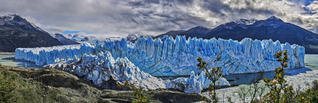 Panoramic view of Perito Moreno Glacier at Los Glaciares National Park NP, Argentina Фото со стока