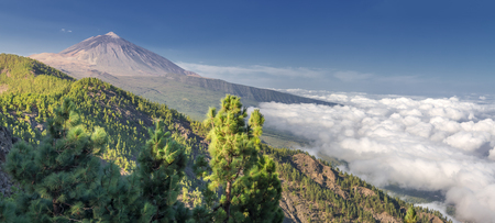 Panorama of the volcano Teide and Orotava Valley - view from Mirador de Chipeque - Tenerife, Canary Islands