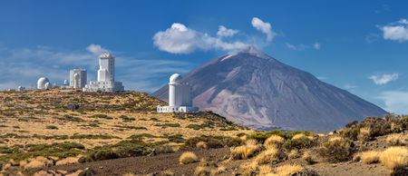 Panorama of the Teide Observatory at front of volcano Teide - Tenerife, Canary Islands