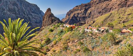 Panorama of mountain village Masca at Tenerife - Canary Islands Фото со стока