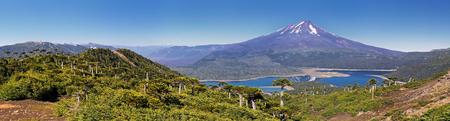 Volcano Llaima from Mirador Sierra Nevada at Conguillio NP (Chile) - panorama