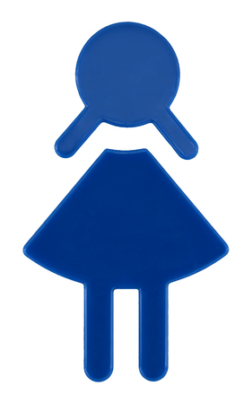 Female toilet sign, isolated on white background