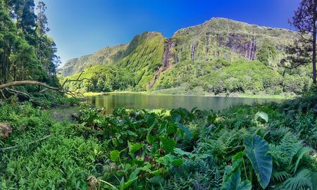 Lake Poco do Ribeira do Ferreiro at the Azores island of Flores
