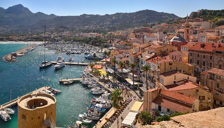 Port of Calvi, Corsica - overview from the citadel