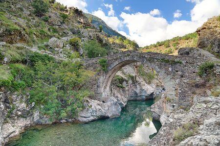 Old Genovese bridge near Asco - Corsica