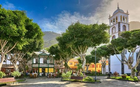 Late afternoon at Plaza de la Libertad in Garachico at the north coast of Tenerife - Canary Islands