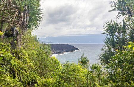 "Coast line at ""Le Vieux Port"" near Saint-Philippe - South coast of island La Reunion"