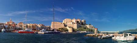 Bay of Calvi (Corsica) - panoramic view Stock Photo
