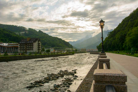 Embankment of the Mzymta River.