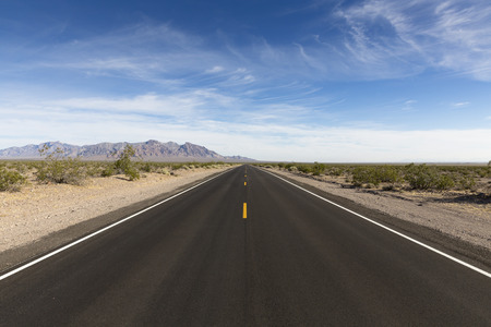 death valley: road, Death Valley National Park, California, USA Stock Photo