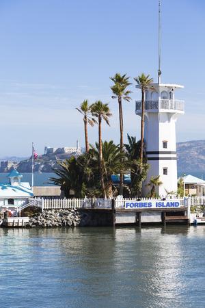 Forbes Island, San Francisco, California, USA