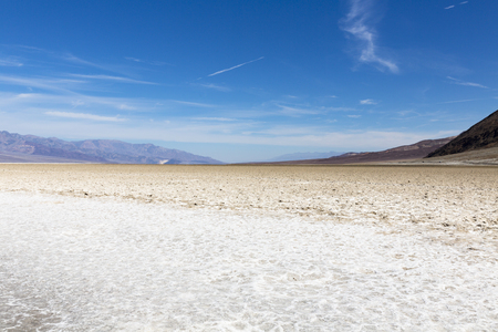 death valley: Badwater Basin, Death Valley National Park, California, USA Stock Photo