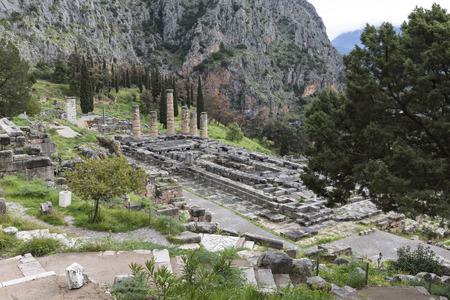 delphi: temple of Apollo, Delphi, Greece