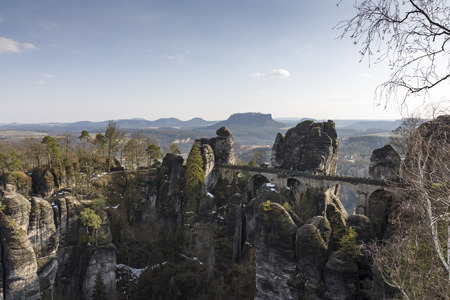 Bastion, Saxon Switzerland, Saxony, Germany