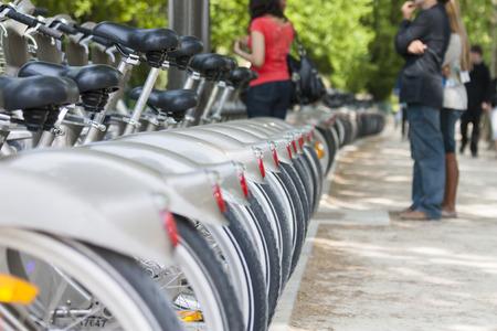 cycles: ciclos. París, Francia Foto de archivo