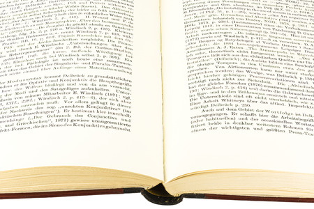 pitched: open book Stock Photo
