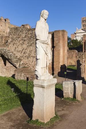 vestal: Forum Romanum, Statue, Rom, Italien