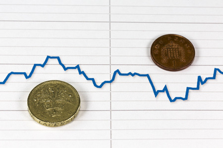 pound sterling: British pound with Forex falling graph of Pound sterling after leave Euro zone Editorial