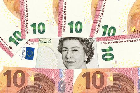 libra esterlina: international currencies including euro, british pound sterling forming background