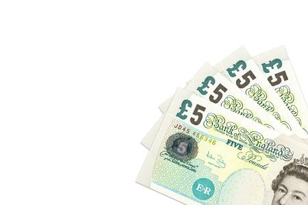 libra esterlina: some british pound sterling notes Foto de archivo