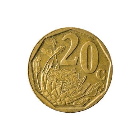 2 Südafrikanische Rand Münze 1989 Avers Isoliert Auf Weißem