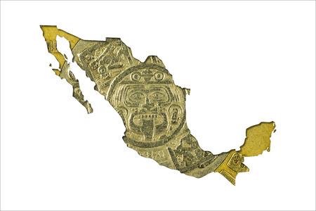 ten mexican peso coin (1998) in shape of mexico