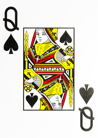 rembrandt: large index playing card queen of spades