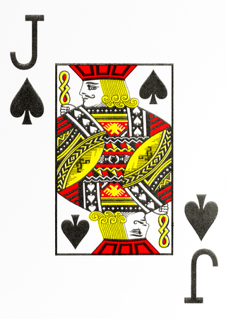 large index playing card jack of spades Stok Fotoğraf