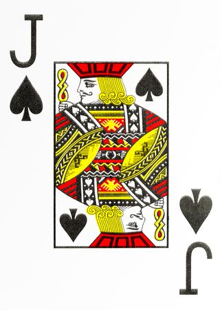 large index playing card jack of spades 免版税图像