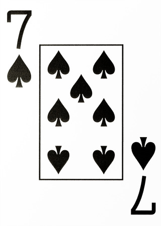 hold em: large index playing card 7 of spades