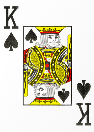 large index playing card king of spades