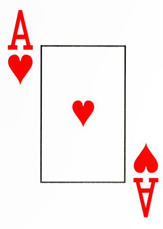 large index playing card ace of hearts Standard-Bild