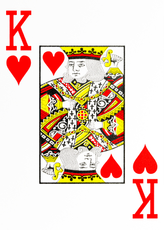 large index playing card king of hearts Standard-Bild
