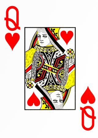 Grande indice di carte da gioco regina di cuori Archivio Fotografico - 74712944