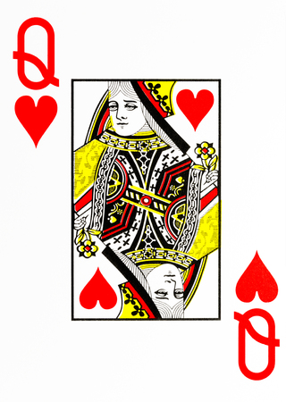 large index playing card queen of hearts