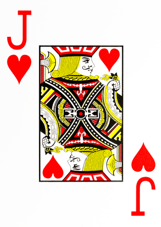 large index playing card jack of hearts Standard-Bild
