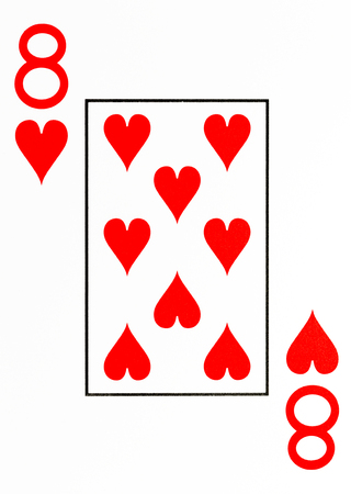 large index playing card 8 of hearts Stock Photo