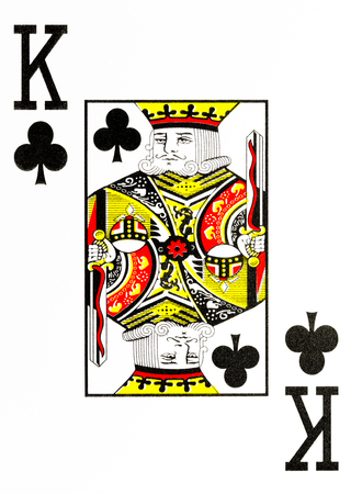 large index playing card king of clubs Standard-Bild