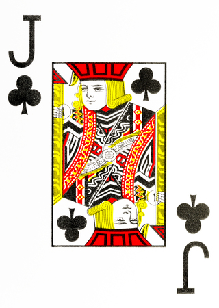 large index playing card jack of clubs