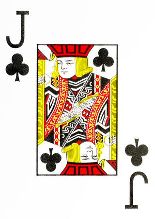 Große Index Spielkarte Jack der Vereine Standard-Bild - 74712973