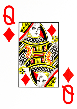 large index playing card queen of diamonds